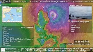 Archive Live Stream of Tracking Typhoon Ompong (Intl. Mangkhut)