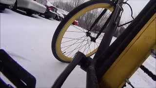 6ku Fixie: Bloomington Winter Riding