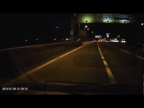 Meteor or Space Debris seen in night sky near Birmingham Airport  30 Jan 2013