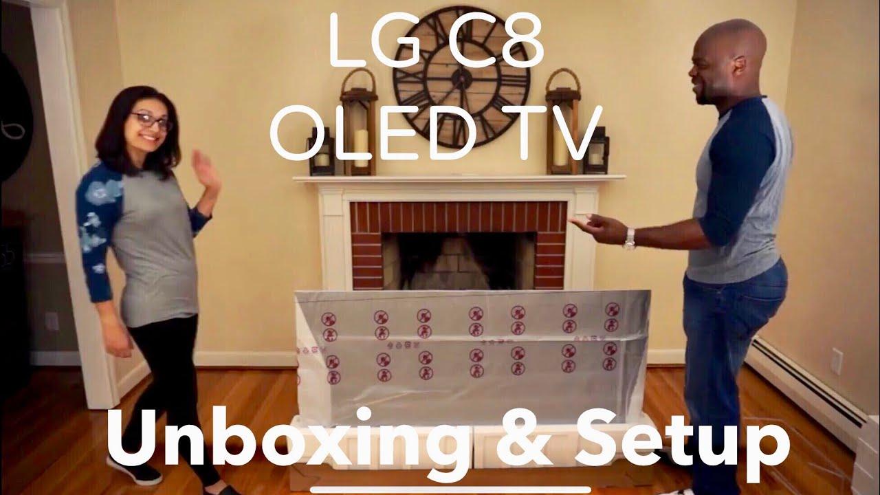 LG C8 OLED TV Unboxing & Initial Setup 2018 Model
