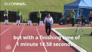 English Version 101 year Old wins gold in 100m