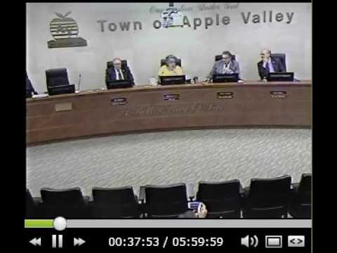 20160614 Leane Lee addresses the Town Council of Apple Valley