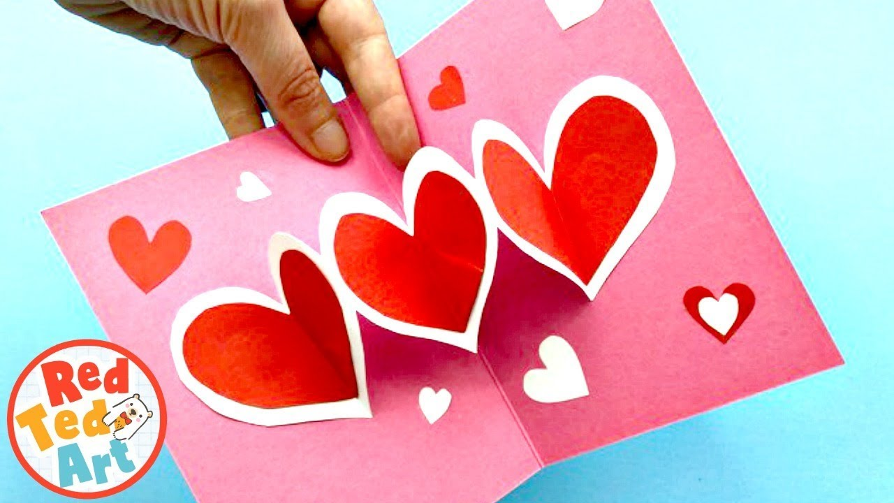 Super Easy Pop Up Heart Card Diy For Mother S Day Or Valentine S
