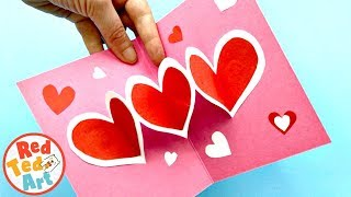 Super Easy Pop Up Heart Card Diy For Mother's Day Or Valentine's