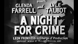 Crime Mystery Movie - A Night for Crime (1943)