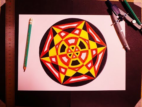 Simple Golden Ratio Hexagonal Art Painting   Geometric Demonstration