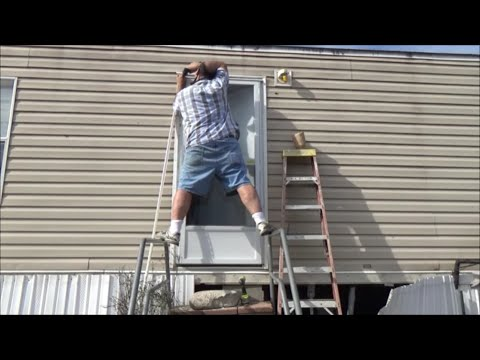 Manufactured Mobile Home Door Replacement And Floor / Sill Damage Repair
