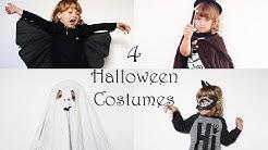 Halloween Kostüme für Kinder selber machen | Fledermaus, Gespenst, Zauberer | MamaKreativ