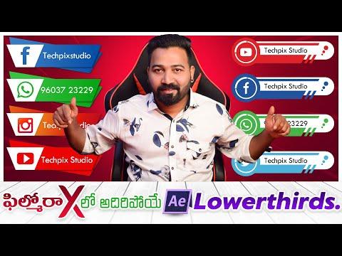 How to Edit Lowerthird Templates in Filmora X  ||  Social Media Lowerthirds in Filmora X in Telugu