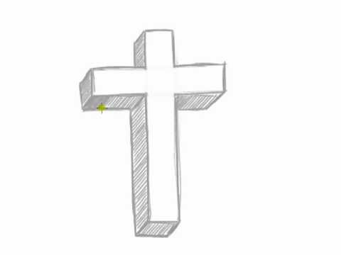 How to draw a 3d cross easy things to draw in 3d mat