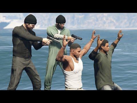 GTA 5 Michael and Trevor Kill Franklin and Lamar! (Alternate Ending Option D)