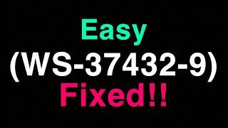 PS4 (WS-37432-9) FIX Error code Wifi Internet