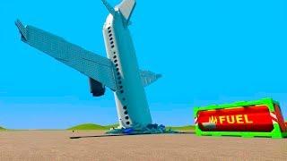 Lego Airplane Falls Crashes #14   Brick Rigs