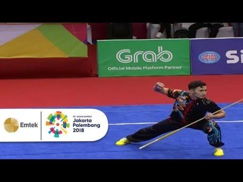 KEREEN ABIS! Penampilan Achmad Hulaefi Cabang Wushu Kelas Daoshu Gunshu | Gelora Asian Games 2018