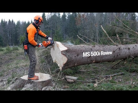 Stihl MS 500i - First Review Chainsaw W/o Carburetor