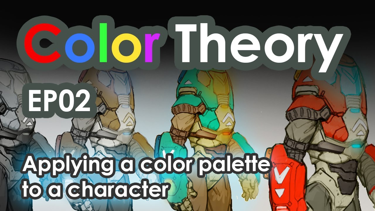 Character Design Colour Palette : Color theory tutorial how to colorize a character youtube