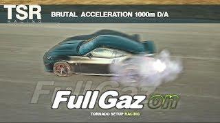 J'envoie du sale !! accélération 1000m d/a , rip les pneus !!!