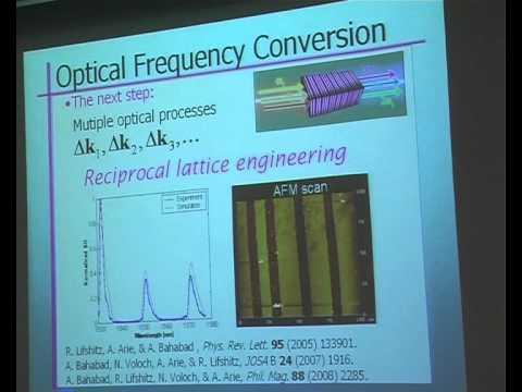 Prof. Ron Lifshitz - Natural & Artificial Mesoscopic Quasicrystals