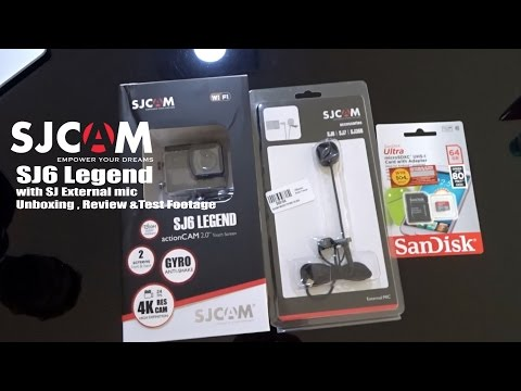 SJCAM SJ6 Legend with SJCAM external Microphone Unboxing Review and Test Footage, INDIA