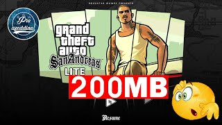 Gambar cover Download GTA san andreas lite 200mb android mediafire /Password : BYMG