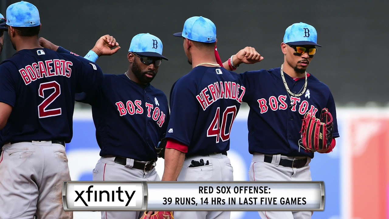 Xfinity Report: Red Sox Heating Up After Tough Start