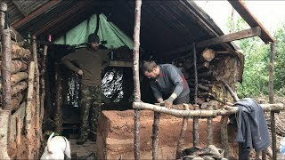 Debris cabin work and 2 nights camping
