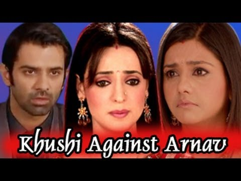 arnav goes to meet khushi and