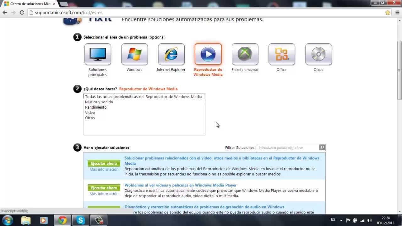 MICROSOFT FIX IT SOLUCCION DE TODO TIPO DE PROBLEMAS EN WINDOWS,XBOX,REPRODUCTOR MEDIA Y OFFICE ...