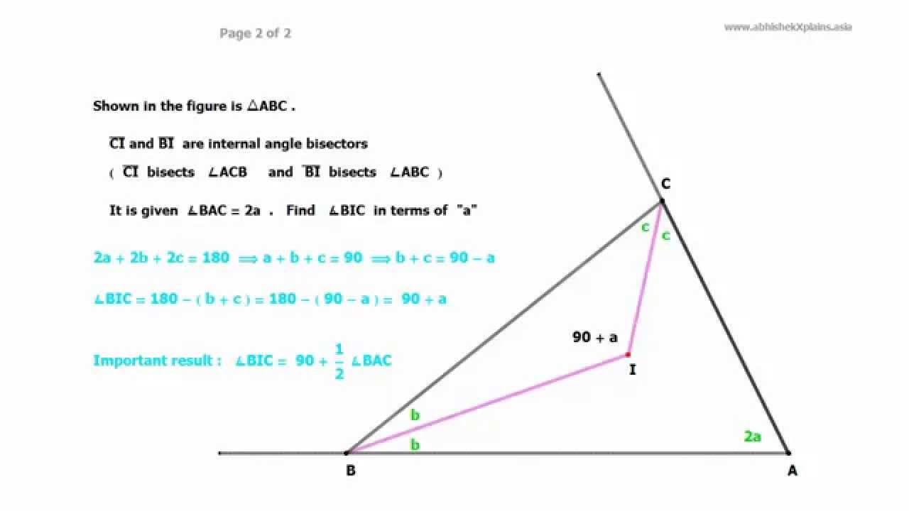 Internal And External Angle Bisectors Of Any Triangle Form Cyclic  Quadrilateral (part 1 Of 3 )