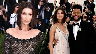 Bella hadid, the weeknd and selena gomez were all stunning in their own right at 2017 met gala, but things could have gotten really awkward fast. ...