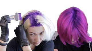 Как сделать Окрашивание волос 2021 Яркое окрашивание волос дома Окрашивание волос в 2 цвета