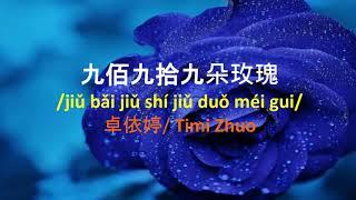 999 Đóa Hồng, nhạc hoa, song ngữ karaoke, Jiu bai jiu shi jiu duo mei gui