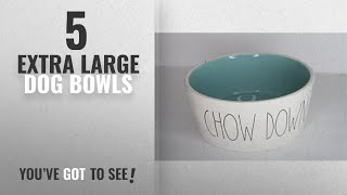 Best Extra Large Dog Bowls [2018]: Rae Dunn Magenta Ceramic Extra Large Pet Food Bowl Cat Dog Dish