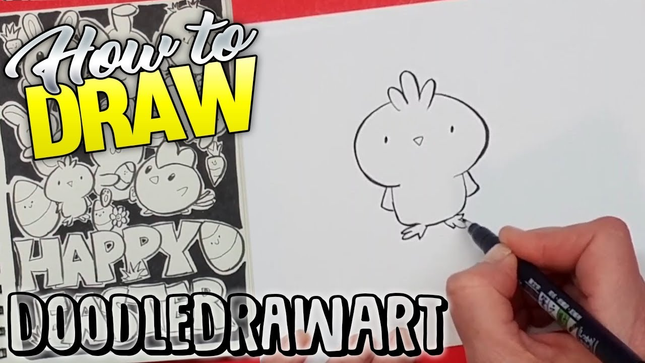 How To Draw A Kawaii Chick Easter Chick Cute Cartoon Chicken