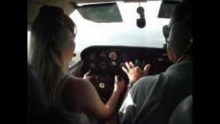 Decolagem Cessna 210 SBGW (instrução)