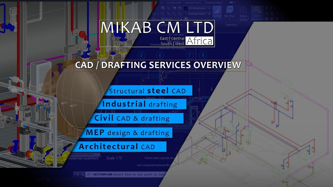 MIKAB'S DESIGN/CAD/DRAFTING SERVICES: Steel | Industrial | Civil | MEP | Architectural