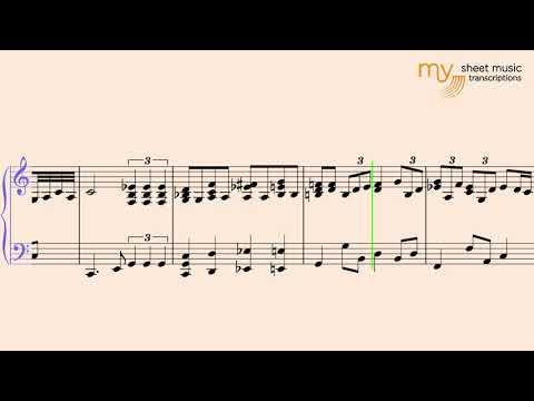 Slow Blues Piano in C - Piano Blues Sheet Music Transcription