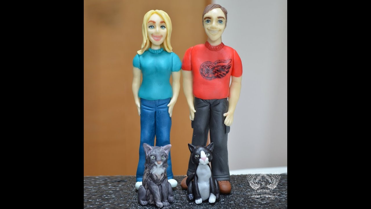 How to make a Standing Person Cake Topper - YouTube