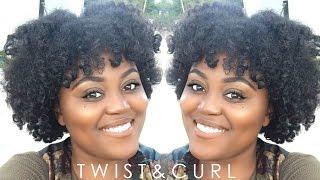 Twist & Curl Natural Hair Tutorial | Short-Medium Hair