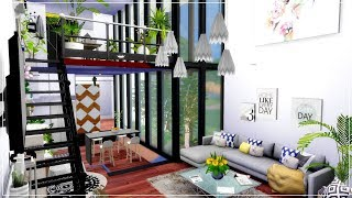 The Sims 4 | Converted Organic Loft Apartment | House Speed Build + Download Links