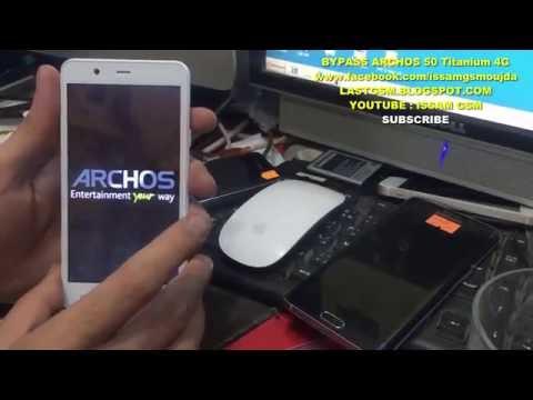ARCHOS 50 Titanium 4G REMOVE FRP BYPASS GOOGLE ACCOUNT 2016