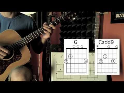 G chord and Cadd9 chord - YouTube