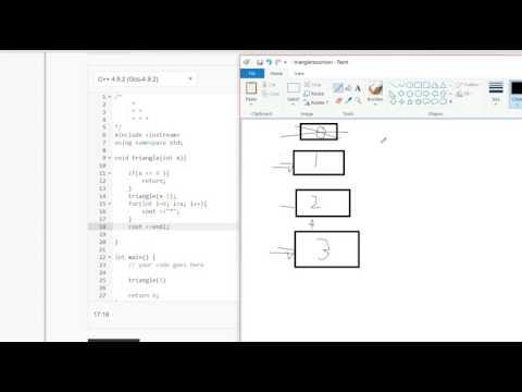 C++ program : Right Triangle using recursion