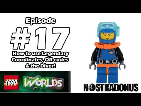 XB1: LEGO WORLDS : Episode 17: How to Use Legendary Coordinates and QR codes! Plus the Diver!