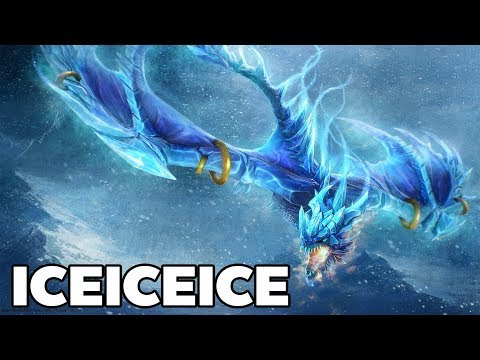 iceiceice Winter Wyvern Supports | Dota2 Gameplay