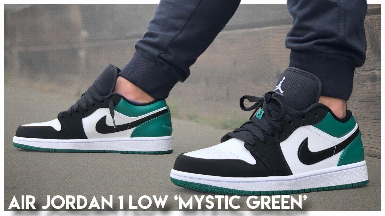 f003e4a3d1e5 Air Jordan 1 Low  Mystic Green  - YouTube