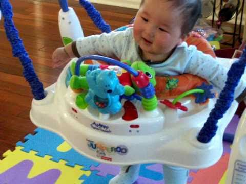 f41bc0ece6e1 Baby laugh and Jump on Jumperoo!!! - YouTube