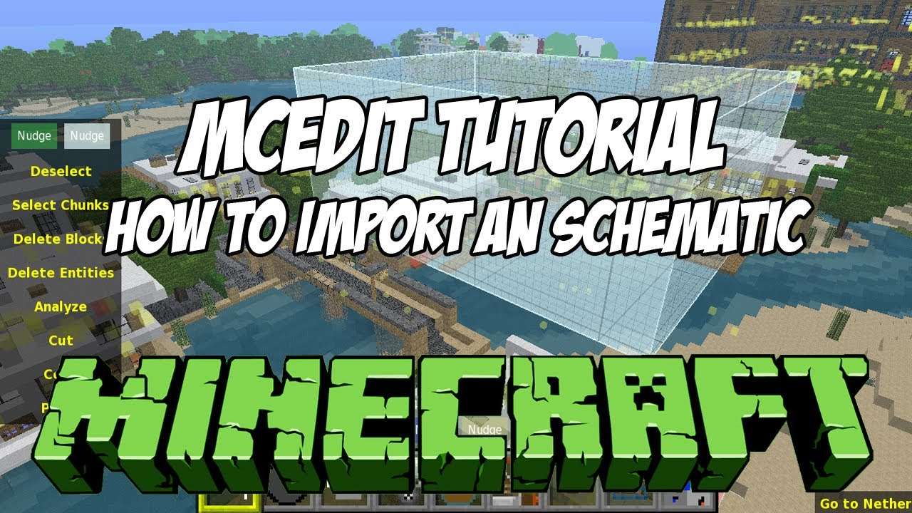 MCEdit Tutorial HD - How to Import Schematics - YouTube on