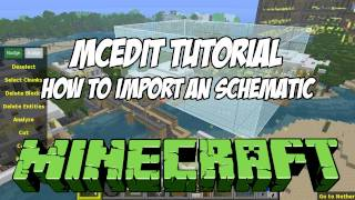 Mcedit Tutorial Hd - How To Import Schematics