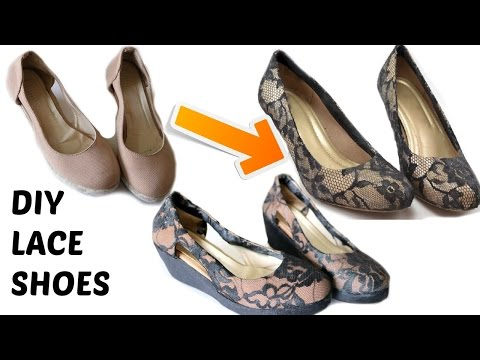 DIY: Convert Old Sandals to Classy Lace Sandals | Shoe Makeover